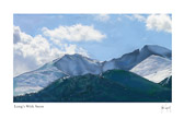 Long's Peak with snow by Julia Taylor