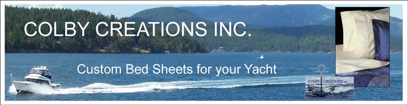 Custom bed sheets for you boat by Colby Creations Inc.